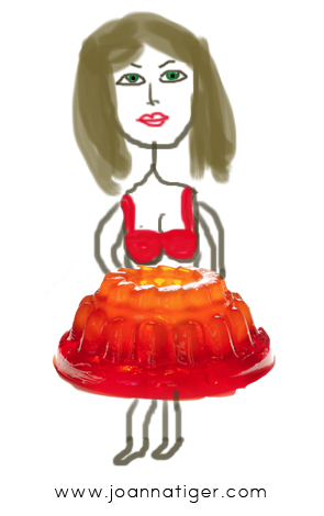 Notice how my bra and jello match?